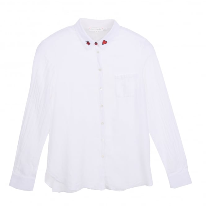 Chinti and Parker Classic White Shirt with Ladybird Collar
