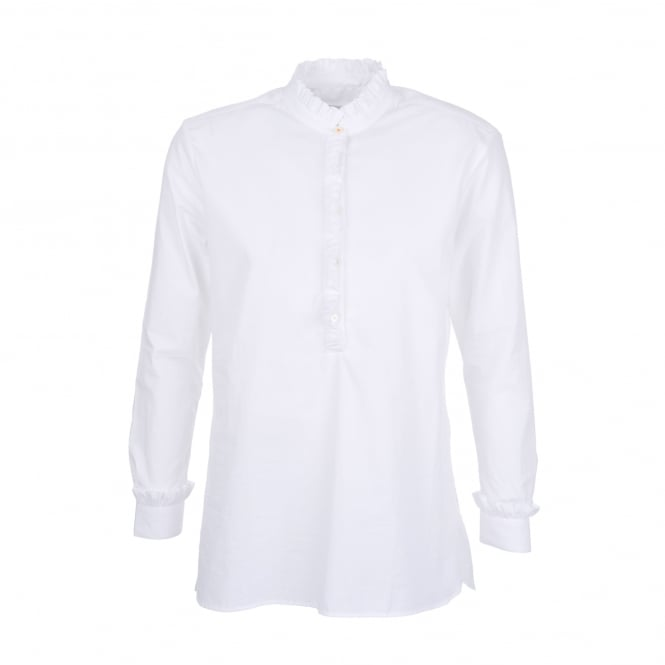 Chinti and Parker Frill Shirt in White