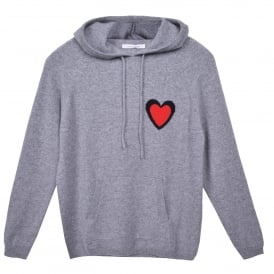Heart Burst Hoodie in Grey
