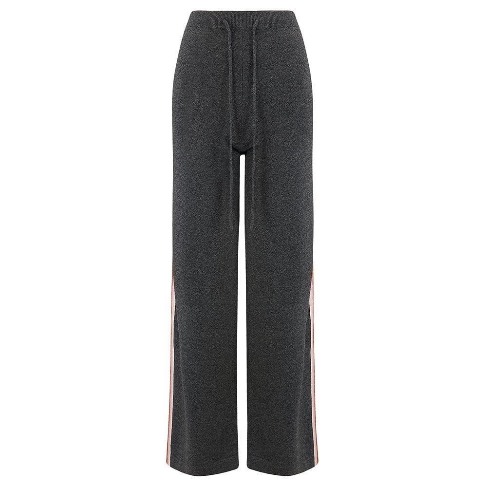 Heritage Stripe Track Pants in Charcoal/Cream
