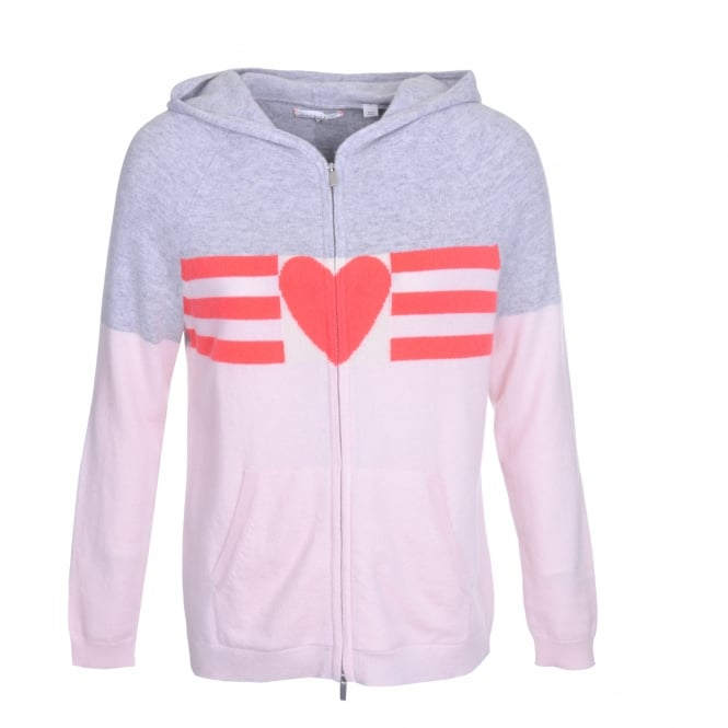 Chinti and Parker Love Heart Cashmere Hoodie