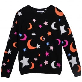 Midnight Sky Cashmere Sweater in Black