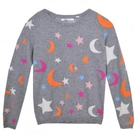 Midnight Sky Cashmere Sweater in Grey