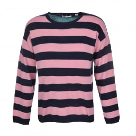 Pop Stripe Relaxed Fit Sweater