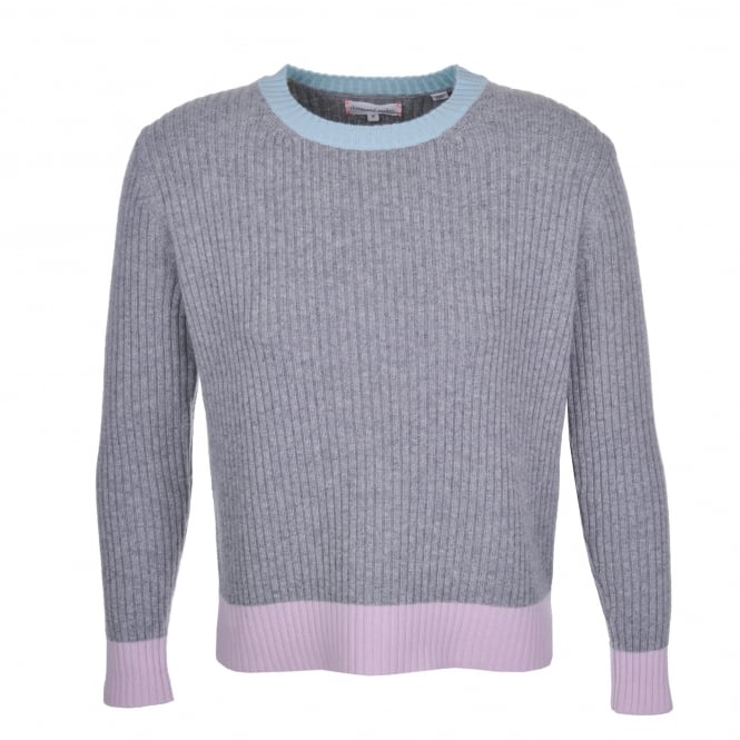 Chinti and Parker Ribbed Block Sweater Grey