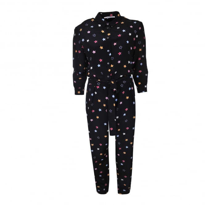 Chinti and Parker Silk Star Jumpsuit
