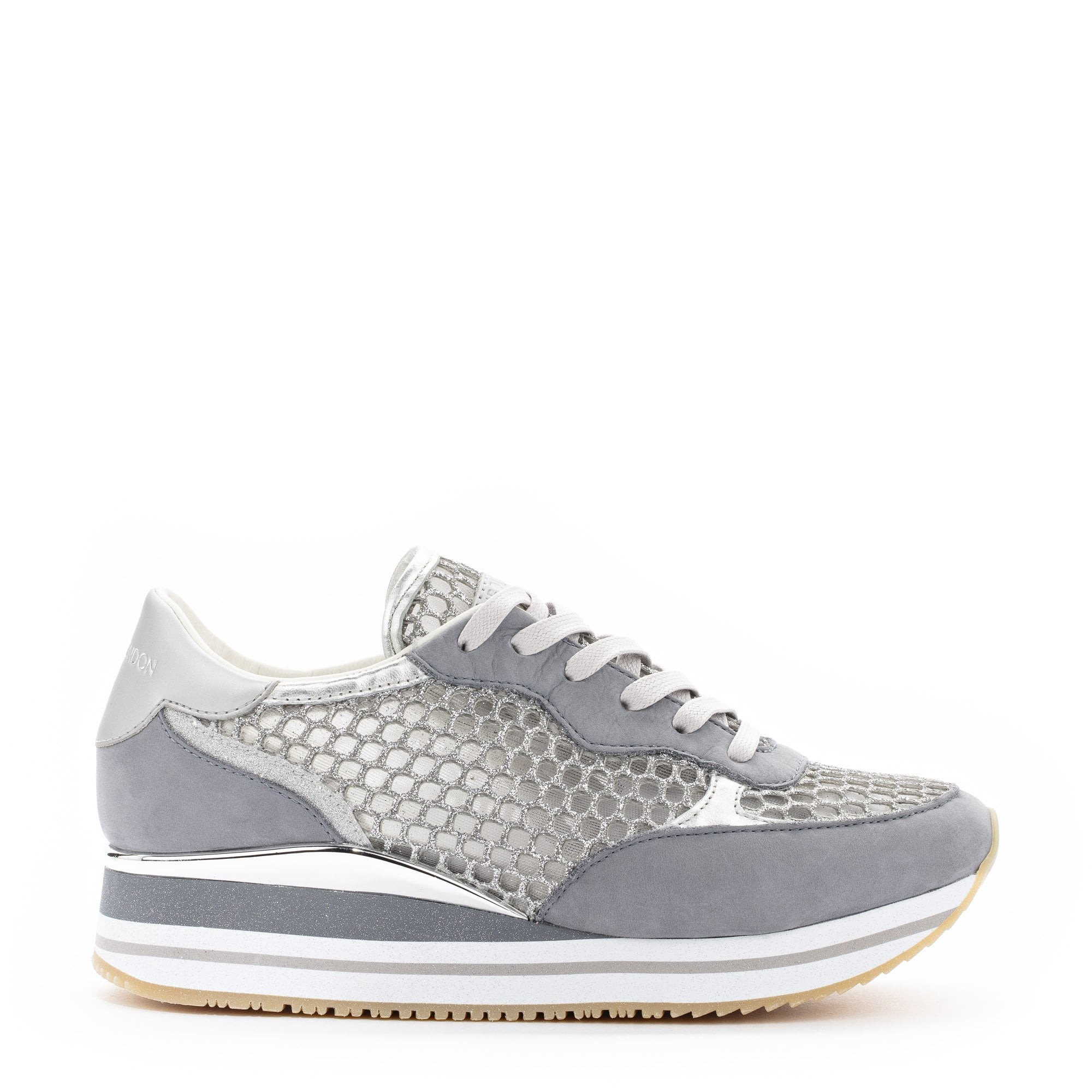 Crime London Dynamic Trainers in Silver