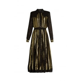 Dodo Bar Or Alanis Dress in Black & Gold