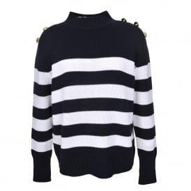 Cable Me Captain in Milk Hello Sailor Stripe