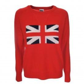 Iconic Brit Sweater in Love That Red
