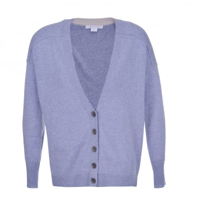 Duffy Clothing Cardi in Stone Blue/Dawn