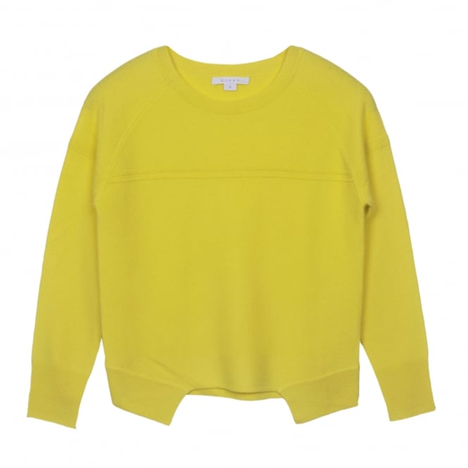 Duffy Clothing Cashmere Sweater in Lemon Sorbet