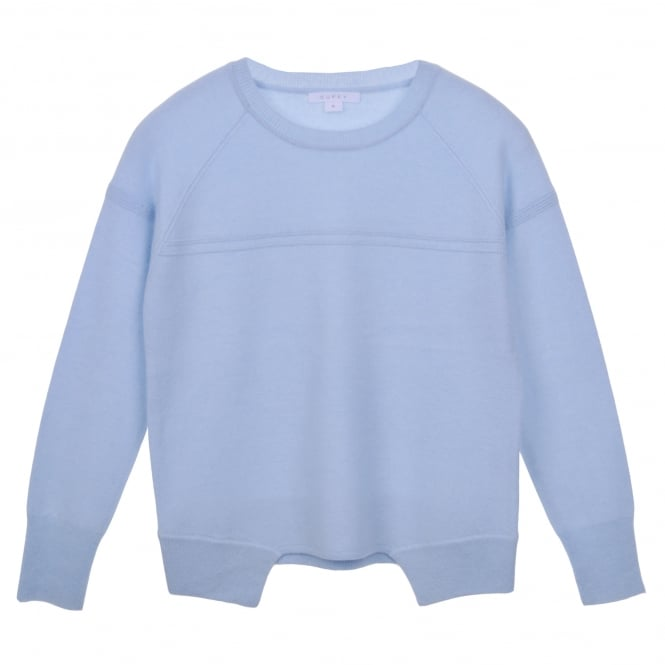 Duffy Cashmere Sweater in Pale Blue