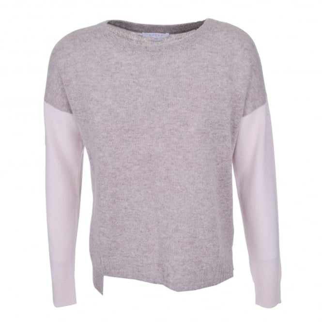Duffy Clothing Boat Neck Sweater Drift Heather/Champagne