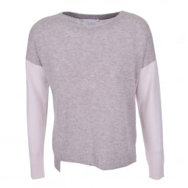 Boat Neck Sweater Drift Heather/Champagne