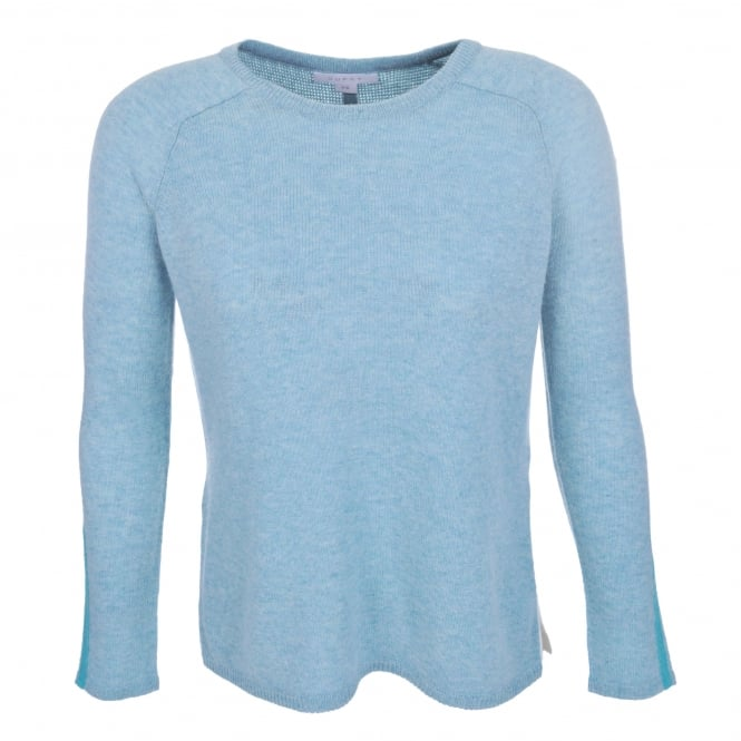 Duffy Clothing Drop Back Sweater in Seaglass