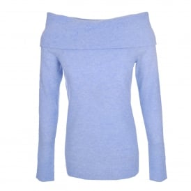 Off The Shoulder Sweater Sky Heather