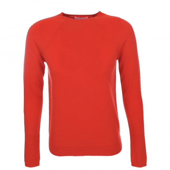 Duffy Clothing Slim Fit Sweater in Coral & Champagne