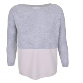 Two Tone Boat Neck Sweater