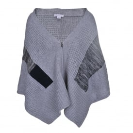 Zipped Cape in Heather and Grey Marl