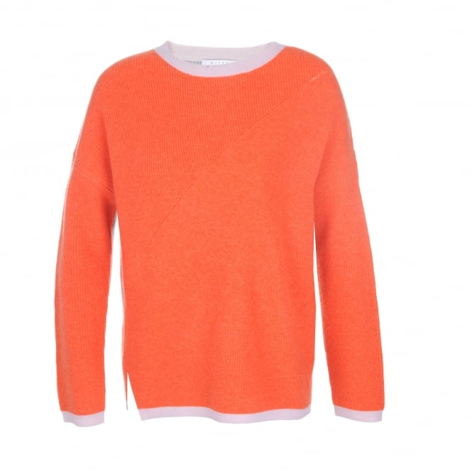 Duffy Clothing Contrast Sweater in Krill/Nuage/Dawn