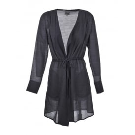 Go Silk Drawstring Duster Jacket