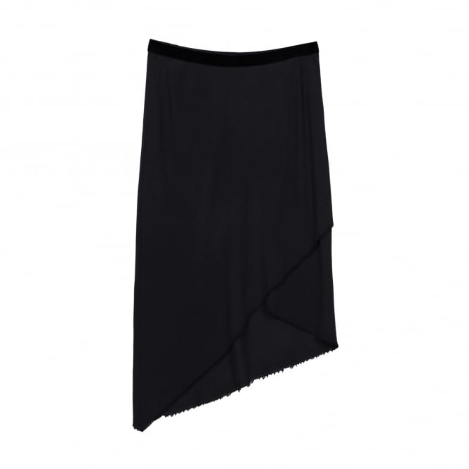 Go Silk Triangle Skirt in Washed Black