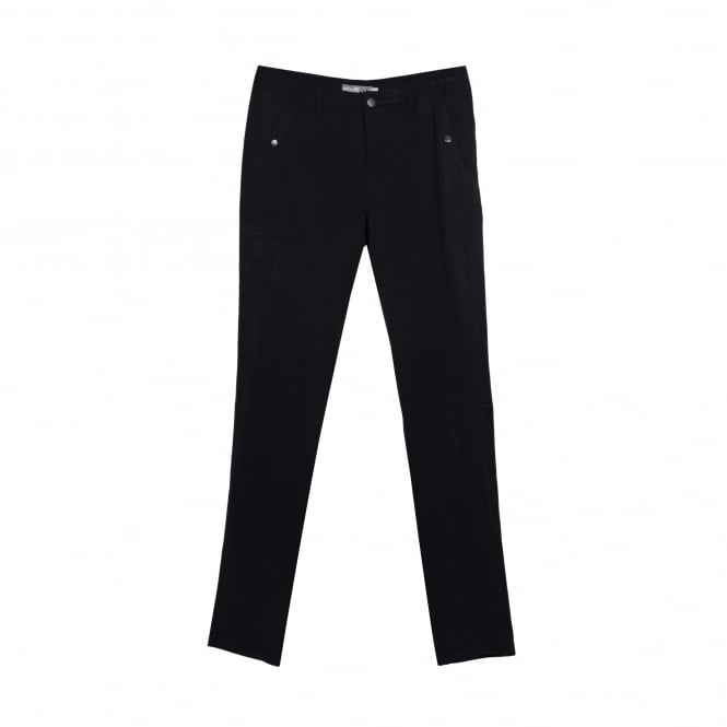 Go Silk Washed Black Silk Pant