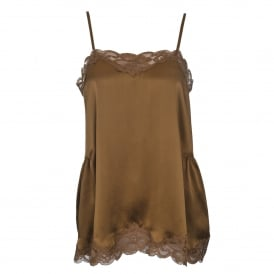 Floral Lace Cami in Burnt Olive