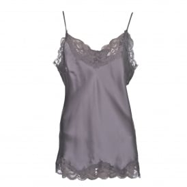 Floral Lace Cami in Stone Grey