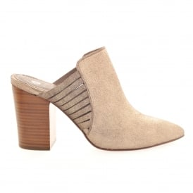 Hudson Audny Suede Gold Mule