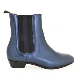 Kenny Boot in Blue Metallic