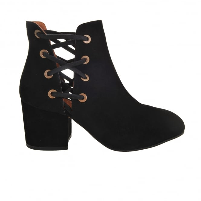 Hudson Shoes Kriss Black Lace Boots