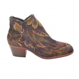 Liberty Print Boot in Blue
