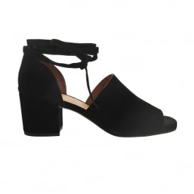 Metta Suede Sandal in Black