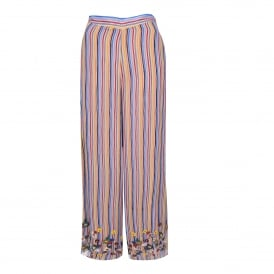 Multicolour Stripe Wide Leg Pant
