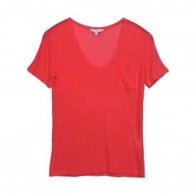 Dac Short Sleeve Tee in Coral