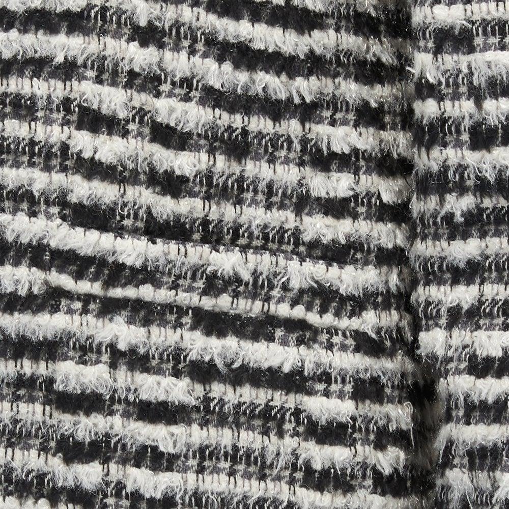 Emotion Tweed Jacket In Black White
