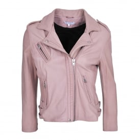 Han Perfecto Leather Jacket in Nude Pink