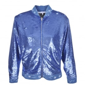 Nanaso Sequin Jacket in Blue