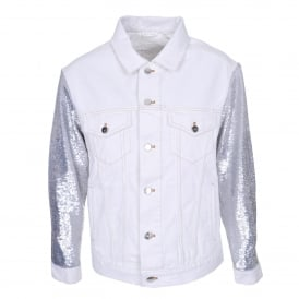 Nanopo Jacket in Silver & White
