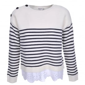 Aefre Frill Bottom Stripe Sweater