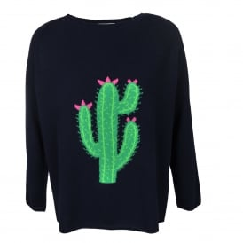 Big Cactus Crew Neck Sweater