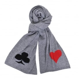 Card Scarf in Grey
