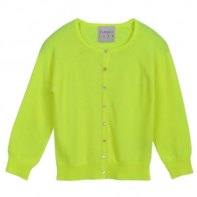 Jumper 1234 Cropped Cardi Neon Yellow
