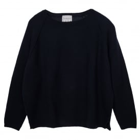 Heavy Navy Cashmere Sweater