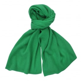 Loose Knit Cashmere Scarf in Bright Green