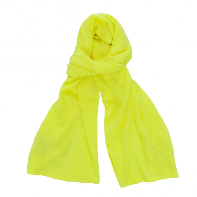 Jumper 1234 Loose Knit Cashmere Scarf in Neon Yellow