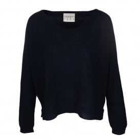 Loose Knit V-Neck Cashmere Sweater