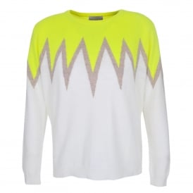 Starburst Arms Crew Neck Cashmere Sweater